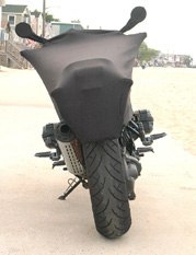 BMW Rockster Rear View with Geza Motorcycle Cover Pro-Series